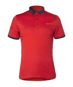 Nike Tennis   Advantage Solid Dri-Fit Polo Shirt Red