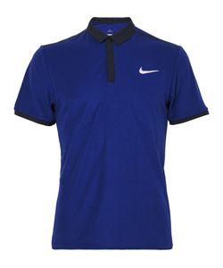 Nike Tennis   Court Advantage Rf Dri-Fit Piqué Polo Shirt Blue
