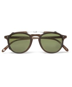 Garrett Leight California Optical | Hampton 46 Matte-Acetate Optical Glasses With Clip-On Uv Lense Brown