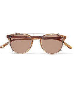 Garrett Leight California Optical | Milwood Tortoiseshell Acetate Optical Glasses With Clip-On Uv Lense Brown