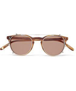 Garrett Leight California Optical | Milwood Tortoiseshell Acetate Optical Glasses With Clip-On Uv Lense Brown