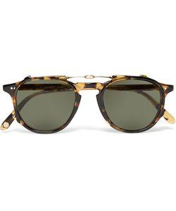 Garrett Leight California Optical | Hampton 46 Tortoiseshell Acetate Optical Glasses With Clip-On Uv Lense Tortoiseshell