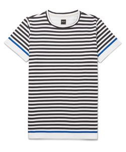 Albam | Slim-Fit Striped Cotton-Jersey T-Shirt Blue