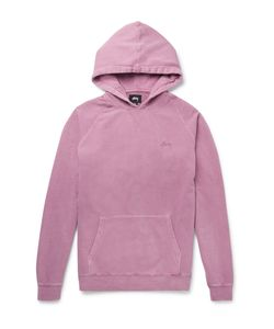 Stüssy | Stock Loopback Cotton-Jersey Raglan Hoodie Pink