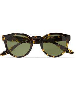 BARTON PERREIRA   Dillinger Round-Frame Acetate Sunglasses Brown