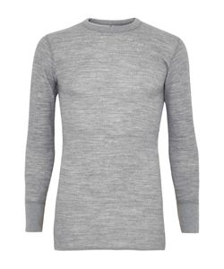 Snow Peak | Textured Wool And Cotton-Blend Base Layer T-Shirt Gray