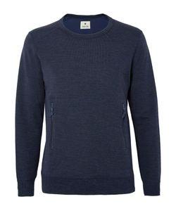 Snow Peak | Wool And Cotton-Blend Sweatshirt Blue