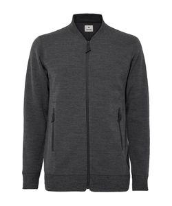 Snow Peak | Wool-Blend Zip-Up Sweater Gray
