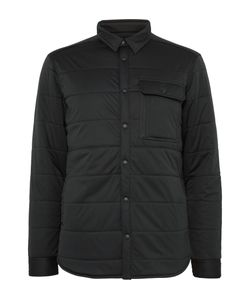 Snow Peak | Quilted Stretch-Jersey Shirt Jacket Black