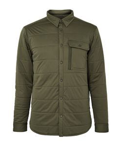 Snow Peak | Quilted Stretch-Jersey Shirt Jacket Green
