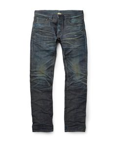 Fabric-Brand & Co | Jericho Slim-Fit Japanese Selvedge Denim Jeans Blue
