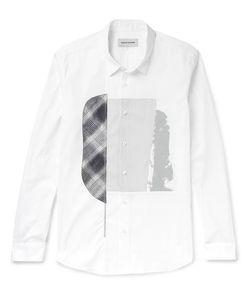 Solid Homme | Slim-Fit Appliquéd Printed Cotton-Poplin Shirt