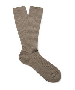 Marcoliani | Ribbed Merino Wool-Blend Socks