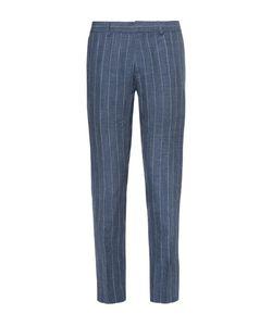 Club Monaco | Sutton Slim-Fit Striped Slub Linen Trousers