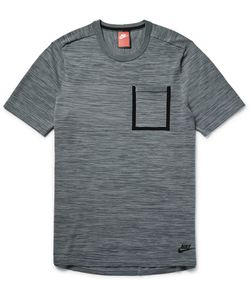Nike | Mélange Tech-Knit Cotton-Blend T-Shirt Gray