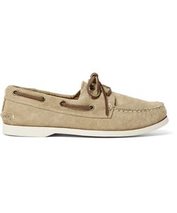 Quoddy | Downeast Suede Boat Shoes Neutrals