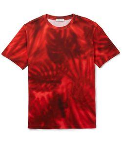 Balenciaga | Slim-Fit Printed Cotton-Jersey T-Shirt Red
