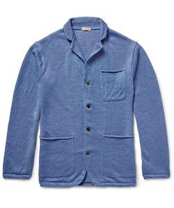Kapital   Knitted Linen Cardigan Blue