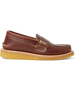 Yuketen | Leather Penny Loafers Brown