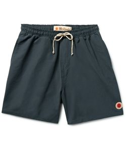 MOLLUSK | Vacation Mid-Length Cotton-Blend Swim Shorts Blue
