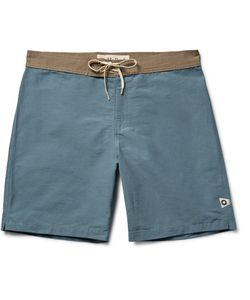 MOLLUSK | Long-Length Cotton-Blend Swim Shorts Blue