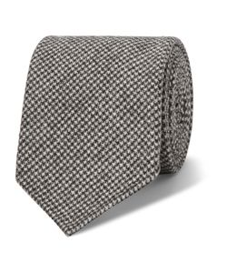 Drake's | 8cm Puppytooth Wool And Cashmere-Blend Tie Gray