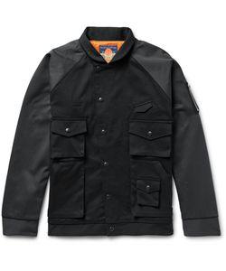 Blackmeans | Two-Tone Cotton-Twill Bomber Jacket Black