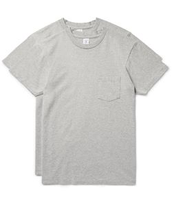 Velva Sheen | Two-Pack Cotton-Blend Jersey T-Shirts Gray
