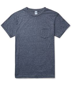 Velva Sheen | Slim-Fit Slub Cotton-Blend Jersey T-Shirt Blue
