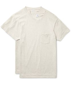 Velva Sheen | Two-Pack Cotton-Blend Jersey T-Shirts Neutrals