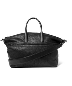Solid Homme | Grained-Leather Tote Bag Black