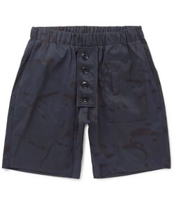 Albam | Camouflage-Print Shell-Ripstop Shorts Blue