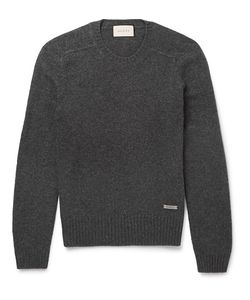 Gucci | Wool And Cashmere-Blend Sweater Gray