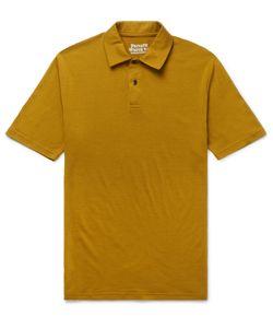 Private White V.C.   Slim-Fit Merino Wool Polo Shirt Brown