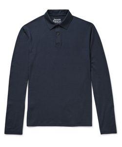 Private White V.C. | Merino Wool Polo Shirt Blue