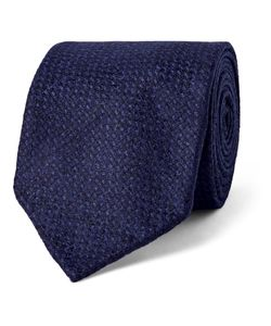 Drake's | 8cm Wool And Cashmere-Blend Tie Blue
