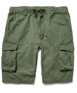 Beams | Slim-Fit Washed-Cotton Cargo Shorts Green
