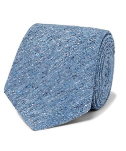 Marwood | 7cm Slub Silk Tie Blue
