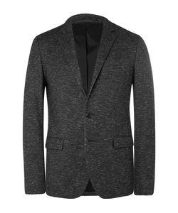 Solid Homme | Grey Slim-Fit Wool-Blend Blazer Gray