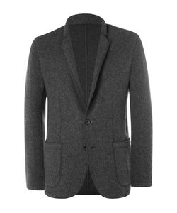 Solid Homme | Grey Unstructured Felted Wool-Blend Blazer Gray