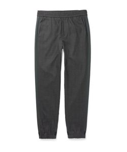 Solid Homme | Tapered Stripe-Trimmed Wool Trousers Gray