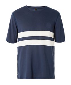 Iffley Road | Cambrian Striped Dri-Release Running T-Shirt Blue