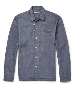 Oliver Spencer Loungewear | Lounge Lux Cotton-Flannel Overshirt Blue