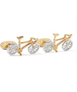 Paul Smith | Racing Bike Gold And Silver-Tone Cufflinks Silver