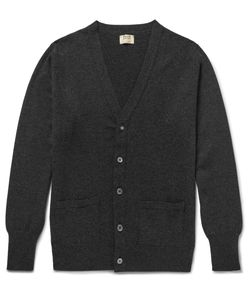 William Lockie | Oxton Cashmere Cardigan Gray