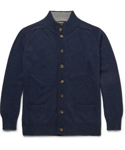 William Lockie | Cashmere Cardigan Blue