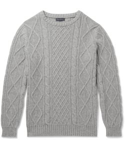 Thom Sweeney | Cable-Knit Cashmere Sweater Gray