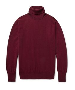 William Lockie | Oxton Cashmere Rollneck Sweater Burgundy