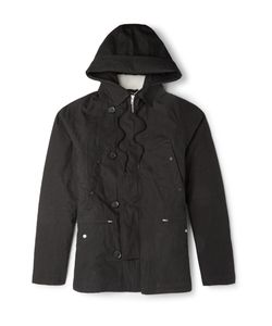 Several | Faux Shearling-Lined Cotton-Canvas Parka Black
