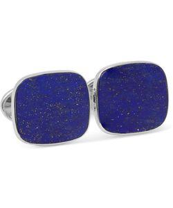 Trianon   18-Karat White Gold Lapis Cufflinks Blue